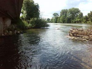 Bachmündung in Fluss