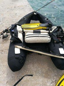 Ron Thompson Max Float Belly Boat Boot inkl wie NEU Wathose-Flossen