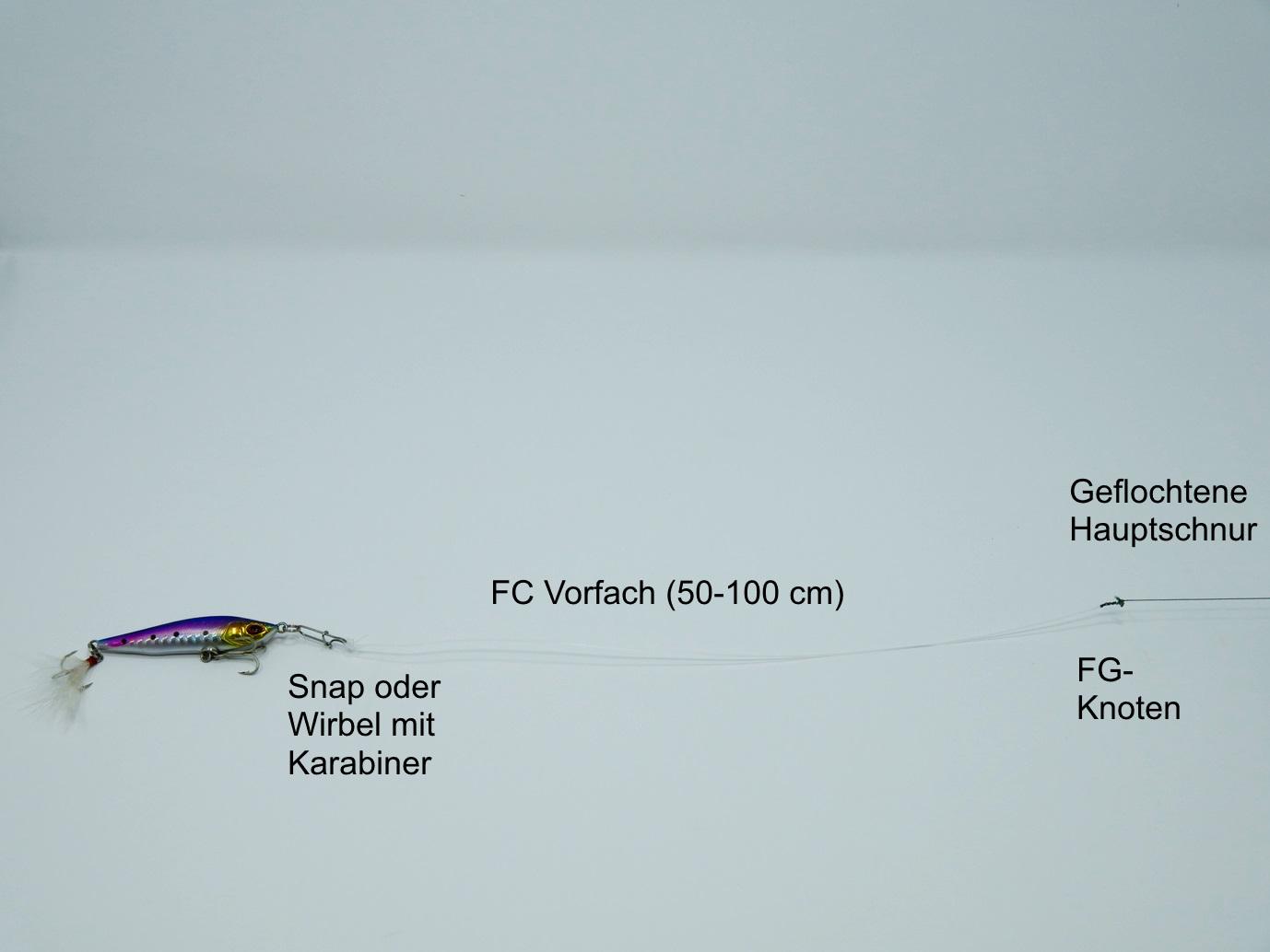 Montage zum Spinnfischen mit FG Knoten.