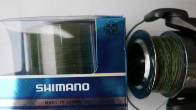 Shimano technium tribal auf Spule und Verpackung