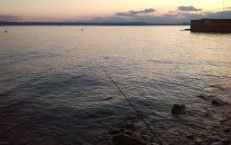 Totet Rute am See beim Angeln